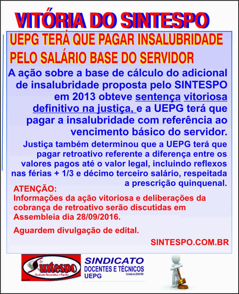NOVA VITORIA DO SINTESPO NA JUSTIÇA