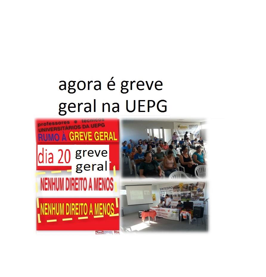 Dia 20 é Greve Geral na UEPG