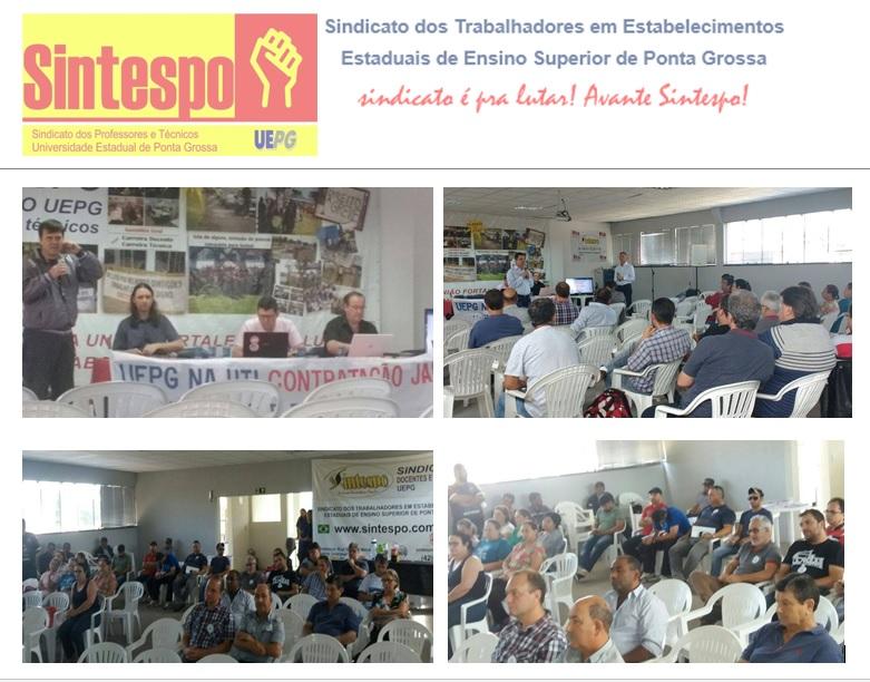 Candidatos à reitoria da UEPG participam de assembleia no Sintespo